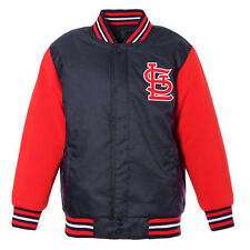 Youth JH Design Navy/Red St. Louis Cardinals Reversible Fleece Jacket - MLB