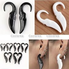 Punk Acrylic Spike Elephant Hook Taper Spiral Ear Plugs Gauge Stretcher Earlets