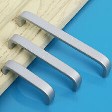 Space Aluminum Modern Cabinet Door Drawer Pulls Handles Kitchen Hardware Knobs