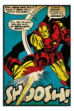 Iron Man Shoosh Marvel Comic Poster New - Maxi Size 91cm x 61.5cm