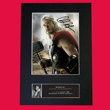 THOR Chris Hemsworth Top Quality Signed Mounted Autograph Photo Print (A4) No586