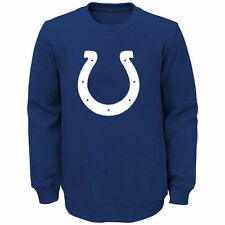 Indianapolis Colts Youth Prime Fleece Crew Pullover Sweatshirt - Royal - NFL