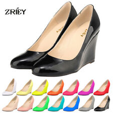 Womens High Heels Closed Pointed Toe Velvet Leather For Party Dress Pumps Shoes