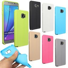Leather Grain Soft TPU Gel Silicone Case Cover For Samsung Galaxy Note5/S6 Edge+