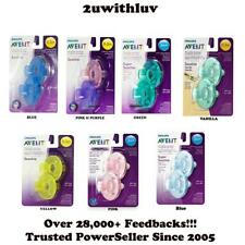 PHILIPS AVENT BABY SOOTHIE PACIFIER 0 - 3 OR 3 MONTHS+ PACK OF 2 CHOOSE COLOR