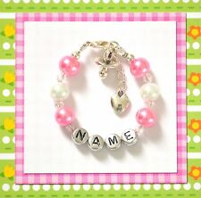 Personalized Baby Bracelet Pacifier Charm Hand Made Gift Any Color/Name/Charm