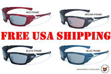 GLOBAL VISION OPEN ROAD RIDING GLASSES MIRRORED LENS MOTORCYCLE SUNGLASSES
