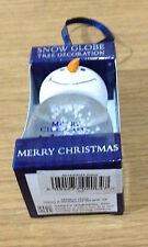 Personalised Named Christmas Tree Clear Snow Globe Decoration Blue Snowman Head