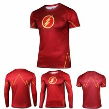 NEW Superhero Marvel Costume Cycling Tee T-Shirts Bicycle Sports Jersey Flash