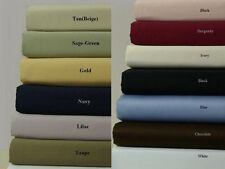 Royal Hotel's Solid 300 Thread Count 4 PC King Bed Sheet Set
