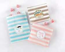 100 Personalized Striped Paper Bags Baby Shower Favor Bags