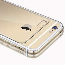 Clear Glossy Acrylic PC Back Case TPU Aluminum Bumper Full Cover for iPhone 6 6s
