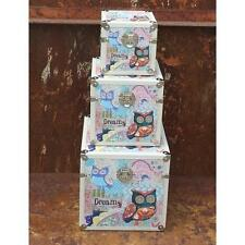 Hoff-Interieur Storage boxes Owl Dreams 3 Sizes