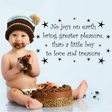 Love and Treasure Boy Nursery Wall Quote Stickers Decal Mural Transfer Stencil