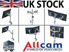 Allcam MDM 01 to MDM 07 Series of Multi Screen Desk Mounted Monitor Mounts
