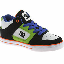 KIDS BOYS DC SKATER TRAINERS BOOTS SIZE UK 11 - 6 BLACK RADAR 302402 KWO