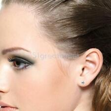 24 Pairs Rhinestone Crystal Round Earrings Ear Studs Pin Bridal Jewelry Party