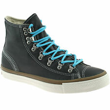 MENS CONVERSE HIKER HI LEATHER BOOTS SIZE UK 6 - 8 BLACK 132381C