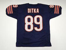 Mike Ditka navy custom jersey sewn letters numbers Chicago Bears size M - XXL