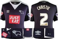 *15 / 16 - UMBRO ; DERBY COUNTY AWAY SHIRT SS + PATCHES / CHRISTIE 12 = SIZE*