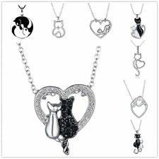 Women Aniamal Pendants Charm Bead For Chain Silver Plated Crystal Necklace DIY