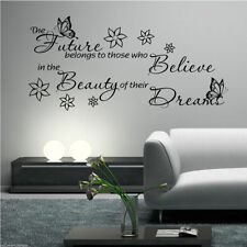 DREAM BELIEVE FUTURE Wall Art Sticker Lounge Room Quote Decal Mural Transfer