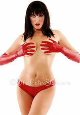 RED Latex Rubber ELBOW Gloves / Unisex / 108