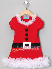 Toddler Kids Girls Children Christmas Santa Claus Costume Outfit One Piece Dress