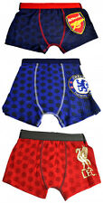 FOOTBALL CLUB OFFICIAL TEAM SPORT UNDERWEAR KID BOY BRANDED TRUNKS BOXER SHORTS