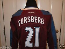 New W/Tags Sewn Premier Peter Forsberg Colorado Avalanche Youth #21 NHL Jersey