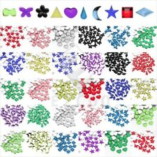 1000 Flat Back Rhinestone Nail Art Phone Decor Assorted Shape Acrylic Non-Hotfix