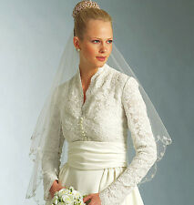 NEW VOGUE GRACE KELLY x KATE MIDDLETON INSPIRED WEDDING DRESS GOWN PATTERN V2979