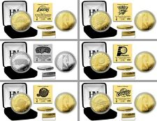 Choose Your NBA Team Commemorative 24KT Gold or Silver Medallion Mint Coin