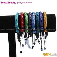 Pave Beads Disco Ball CZ Crystal Clay Rhinestones Tube Beads Bracelet Jewelry
