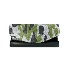 Camouflage Evening Cluth Purse Rhinestones