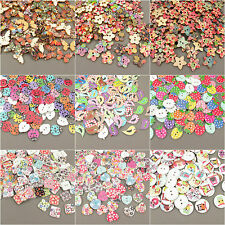 Wood Craft Buttons Scrapbook Sewing Various Mixed HUGE SELECTION OF SHAPES