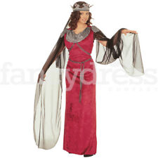 Deluxe XL Medieval Tudor Queen Ginevra Maid Marion Fancy Dress Costume Banquet