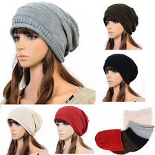 New Hot Unisex Winter Plicate Baggy Beanie Knit Crochet Ski Hat oversized Cap 5