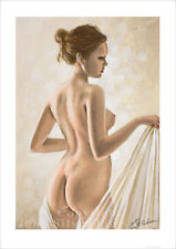 EROTIC ART FEMALE NUDE PORTRAIT. SIGNED A4 or A3 PRINT by JOHN SILVER. FI017SP