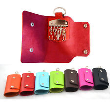Top Selling Unisex PU Leather Key Chain Accessory Pouch Bag Wallet Key Holder