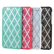 "For iPhone 6 6S 4.7"" Vintage Lace Damask Pattern Slim Matte Hard Case Thin Cover"