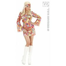 Ladies Womens Hippie Girl Costume Outfit for 60s 70s Fancy Dress