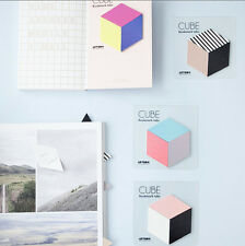 Bookmark Tabs CUBE Index Mark Post-it Sticky Note Memo Pad Decor Sticker Marker