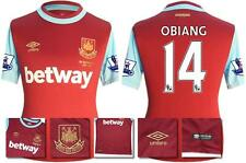 *15 / 16 - UMBRO ; WEST HAM UTD HOME SHIRT SS + PATCHES / OGBIANG 14 = SIZE*