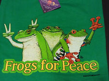 Frogs for Peace T-shirt Unisex S-M-L-XL-2XL FREE SHIP USA NEW NWT Green Cotton