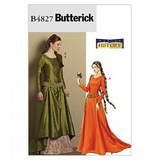 Free UK P&P - Butterick Ladies Sewing Pattern 4827 Historical Costume Med...