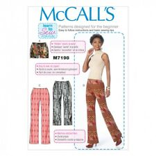 McCalls Ladies Easy Learn To Sew Sewing Pattern 7198 Shorts & Pants (McCa...