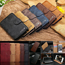 Fashion Leather Card Slot Wallet Stand Flip Case Cover For iPhone 5/5s 6s 6 PLUS