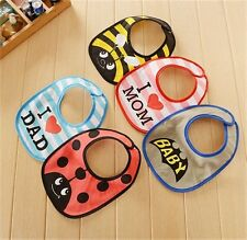 Cartoon Pattern Baby Bib Infant kids Saliva Towel Waterproof Lunch Bibs