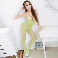 Women's sexy Erotic Lingerie Fishnet Bodystocking Crotchless Open Crotch SM robe